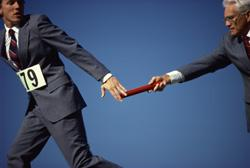 Passing the baton in a presentation is no easy task . . . it takes preparation and the right kind of practice