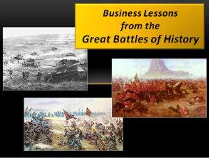 Business Lessons from the Great Battles