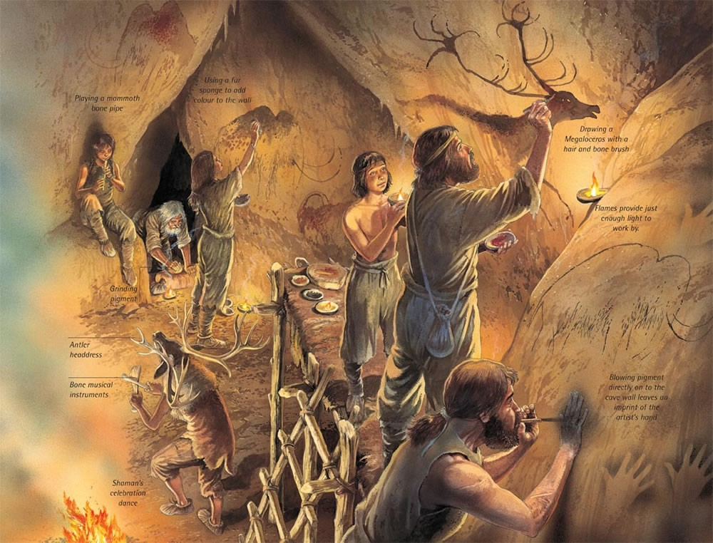 Mini Man Cave Painting : Touch the cave paintings for especially powerful presentations
