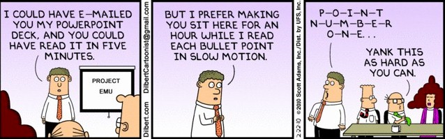 Dilbert Presentation Wisdom!